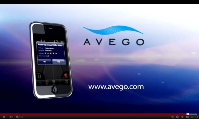 Avego ride-sharing app