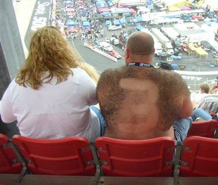 Avid NASCAR fans at the Sharpie 500