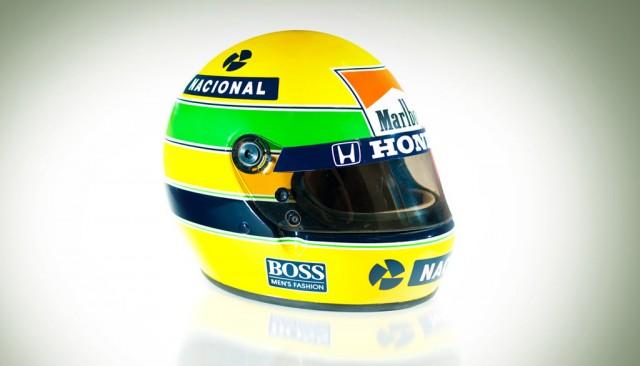 Ayrton Senna's Formula 1 race helmet