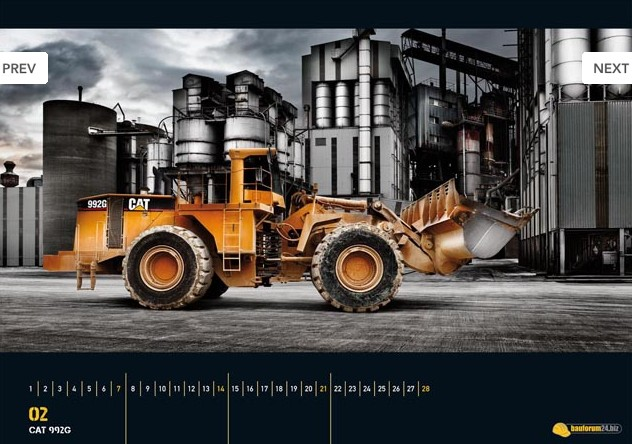 Bauforum24 Heavy Equipment Calendar