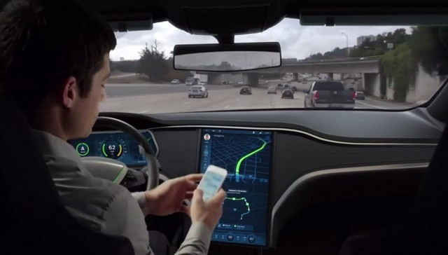 Behind the wheel of an autonomous car