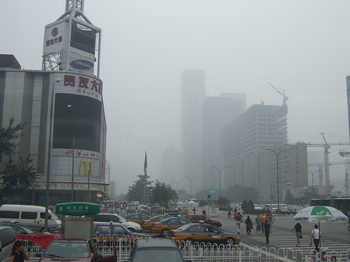 Beijing Smog by Flickr user michaelhenley