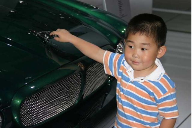 Beijing show Kid with Jaguar
