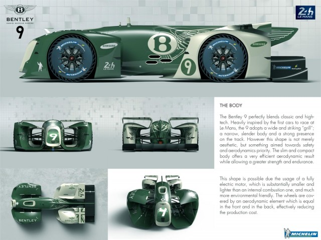 Bentley 9 Plus Michelin Battery Slick is the 2nd place entry in the 2017 Michelin Design Challenge