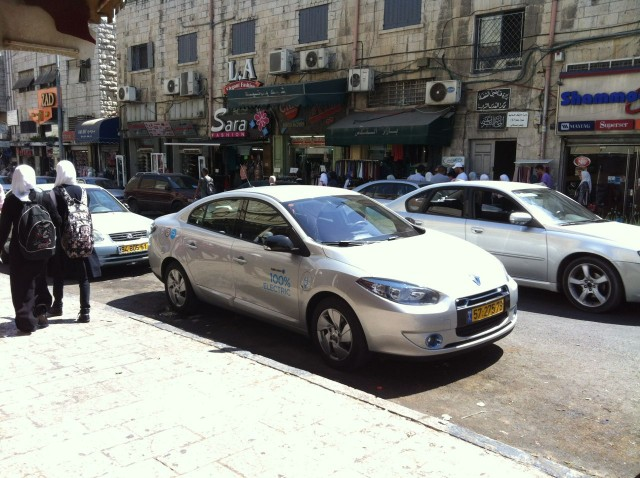 Better Place Renault Fluence ZE on the streets of Jerusalem