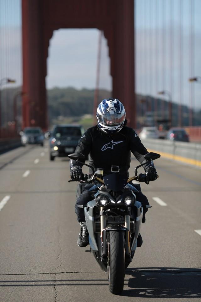 Bill Levasseur riding Energica Eva on California 1 tour from LA to San Francisco