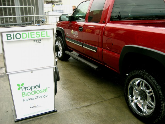 Biodiesel pump. Image by Flickr user Horatio_Nailknot