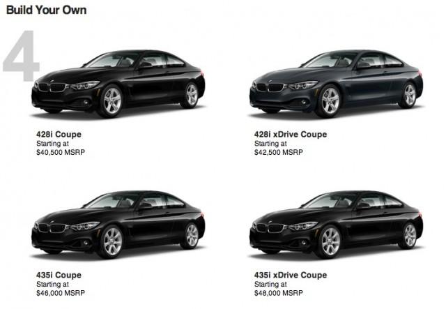 BMW 4 Series Configurator