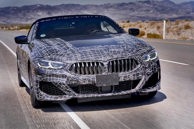 BMW 8-Series convertible prototype