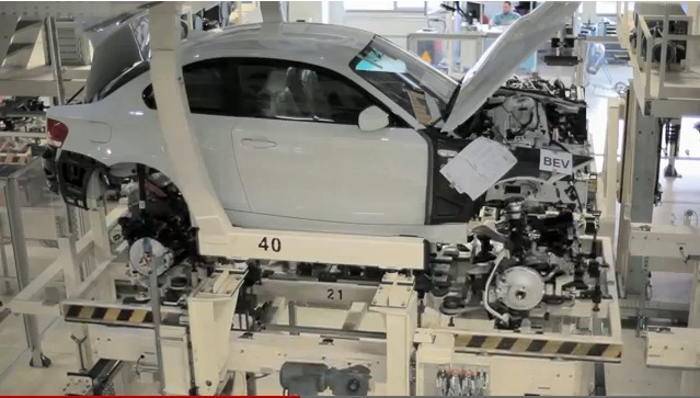 BMW ActiveE electric car production line, Leipzig, Germany