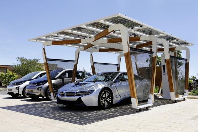 BMW DesignworksUSA solar carport concept