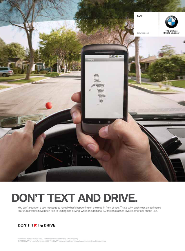 BMW Don't TXT and Drive campaign