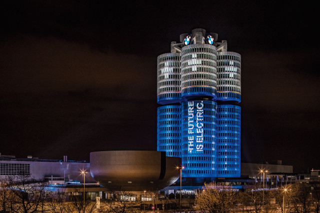 BMW Group headquarters transformed into batteries in Munich