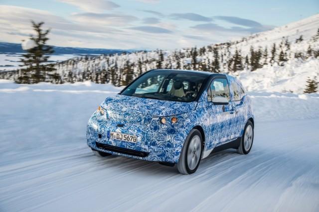 BMW i3 electric car undergoing winter testing, February 2013