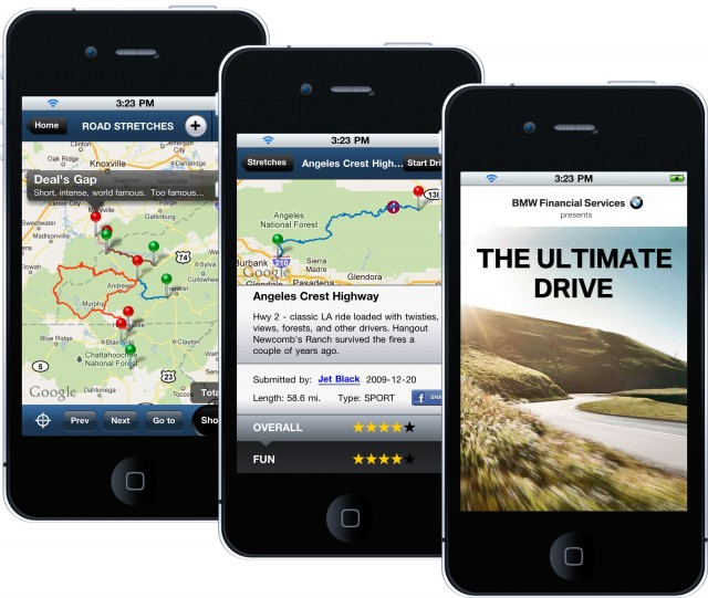 "BMW ""The Ultimate Drive"" app"