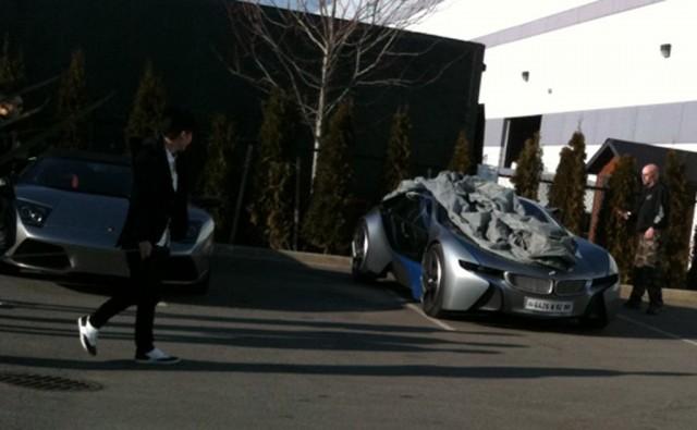 BMW Vision EfficientDynamics on the set of MI4