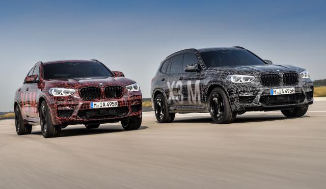 BMW X3 M and X4 M prototypes