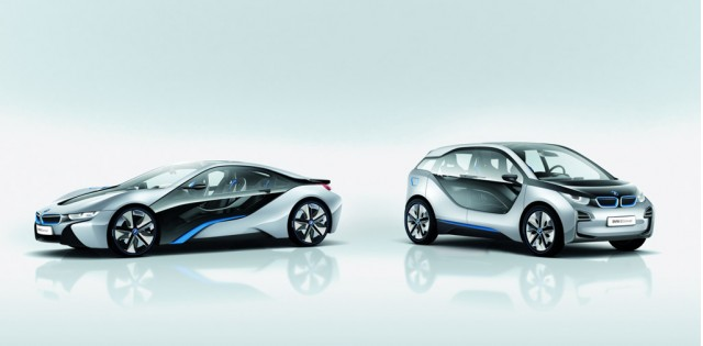 BMW i8 and i3 concept cars