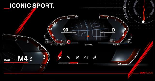 BMW digital instrument cluster Operating System 7.0