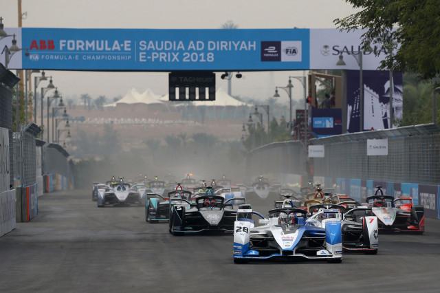 BMW i.FE18 Formula E racer, Ad Diriyah 2018