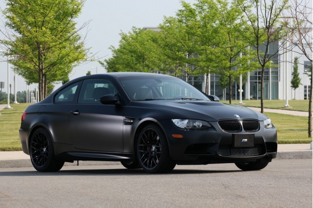 BMW's Frozen Black M3 Coupe. Image: BMW