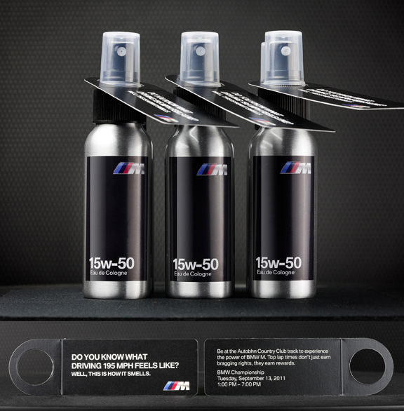 BMW's promotional motor oil cologne.