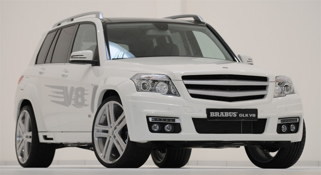 Brabus is the first tuner to offer a V8 conversion for the compact Mercedes Benz GLK