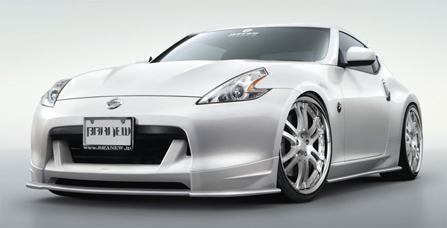 The Branew Nissan 370Z features a full bodykit that will be available in carbon-fiber or fiberglass