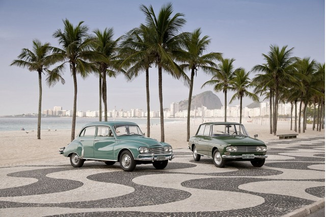 Brazilian DKW Belcar and Fissore models at the world-famous Copacabana Beach in Rio de Janeiro