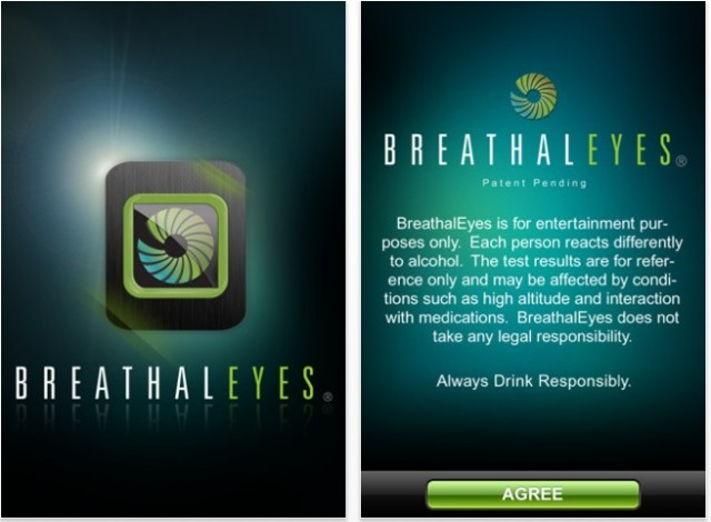 BreathalEyes app for iPhone