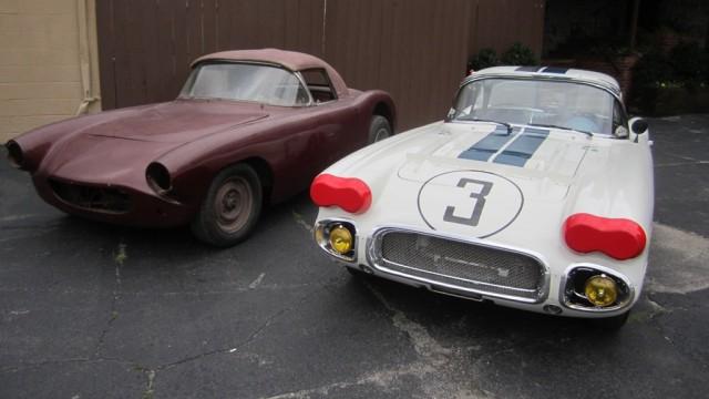 #1 and #3 Briggs Cunningham 1960 Chevrolet Corvette