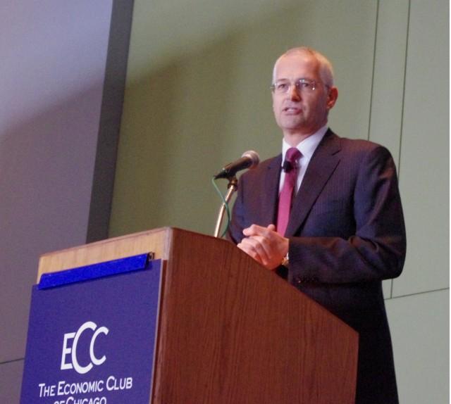 Browning at ECC Podium