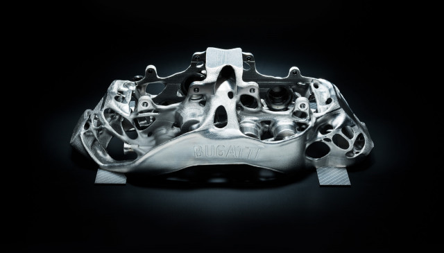 Bugatti Chiron brake caliper made using 3D printing