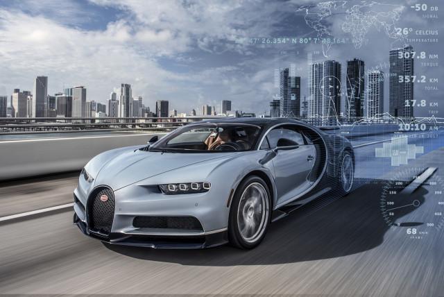 Bugatti Chiron telemetry