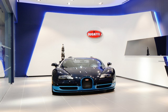 Bugatti showroom in New York City