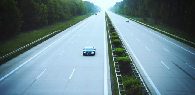 Bugatti Veyron owner hits 250 mph on the Autobahn