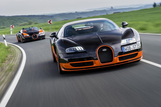 Bugatti Veyron Super Sport and Veyron Grand Sport Vitesse land speed record holders