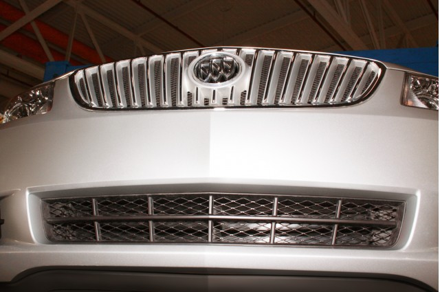 2012 Buick Lacrosse with eAssist, front fascia with aero shutter