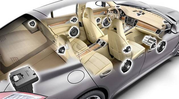 Burmester is the same audio company that developed the sound system for the Bugatti Veyron supercar