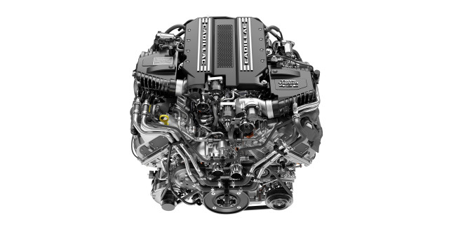 Cadillac 4.2-liter twin-turbocharged V-8