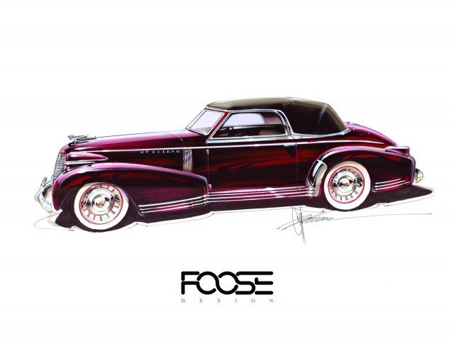 Chip Foose renders his upcoming 1939 Cadillac Sixty Special