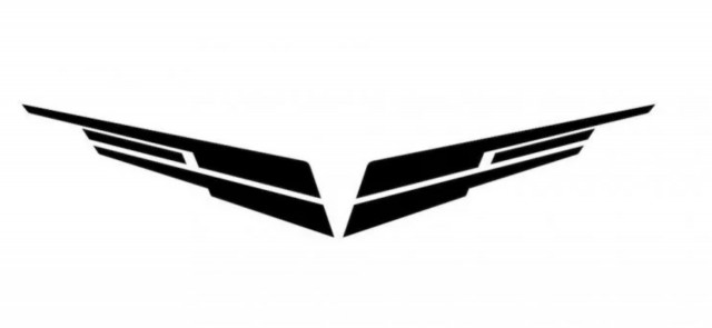 Cadillac 4.2-liter twin-turbo V-8 Blackwing engine logo