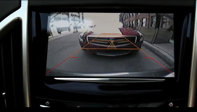 Cadillac's Rear Vision Camera with Dynamic Guidelines - image: GM Corp