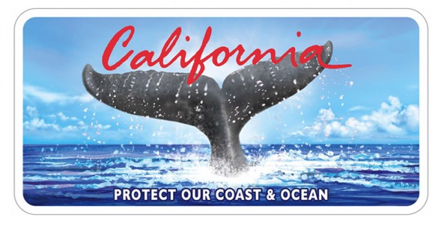 California's New Whale Tail Plate. Image: California Coastal Commission