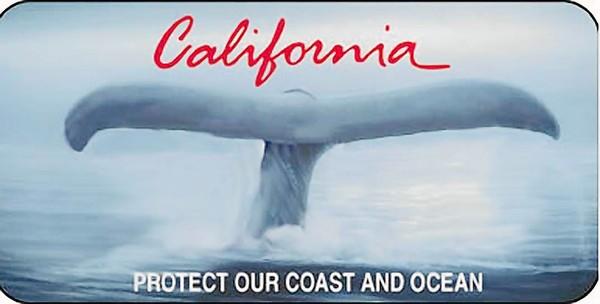 California's Old Whale Tail Plate. Image: California Coastal Commission