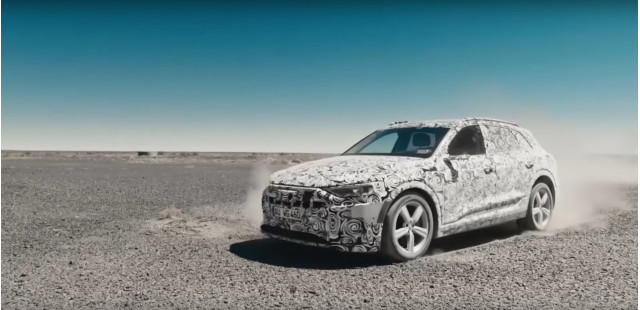 Camouflaged 2019 Audi e-tron electric SUV on video at 2018 Geneva auto show