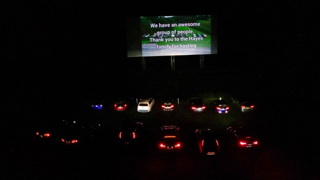 Capital District EV Drivers drive-in movie night in Greenville, NY [CREDIT: Matthew VanDerlofske]