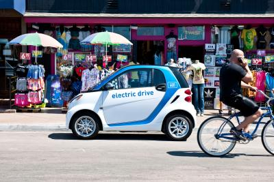 car2go Smart ForTwo Electric Drive at Windansea Beach La Jolla CA