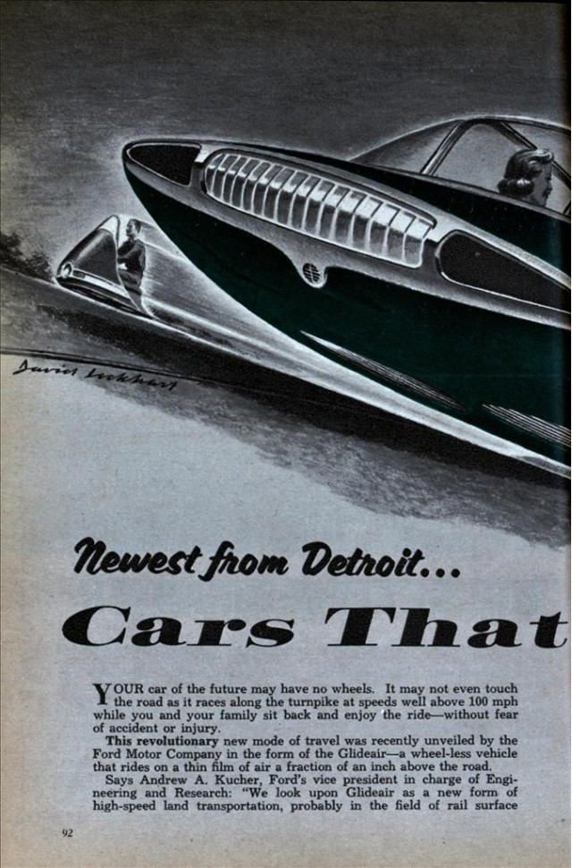 'Cars That Fly' from Mechanix Illustrated, October 1958