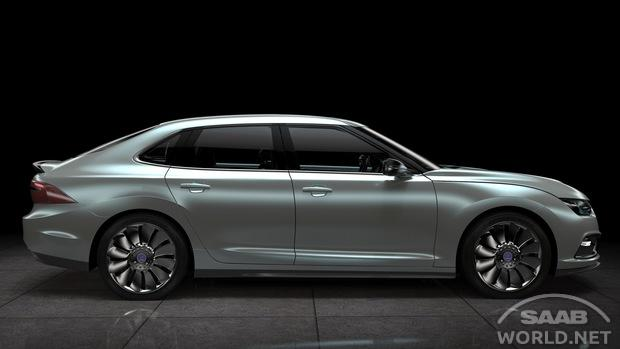 Castriota-design Saab 9-3 rendering. Image via Saab World.